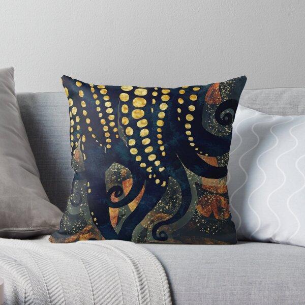 Metallic Ocean Throw Pillow