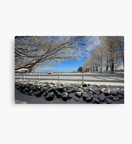 Maine Snow Scene Canvas Print