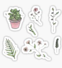 Pflanzen und Blumen Sticker Blatt Sticker