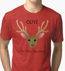 Olive - The Other Reindeer Tri-blend T-Shirt