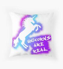 Cojín de suelo Los unicornios son reales - Arco iris rosa