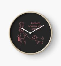 Bunny's Dog Walking Service (Buffy/Willow) Clock