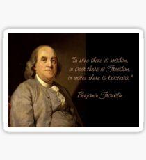 Ben Franklin Wit Sticker
