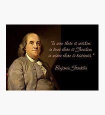 Ben Franklin Wit Photographic Print