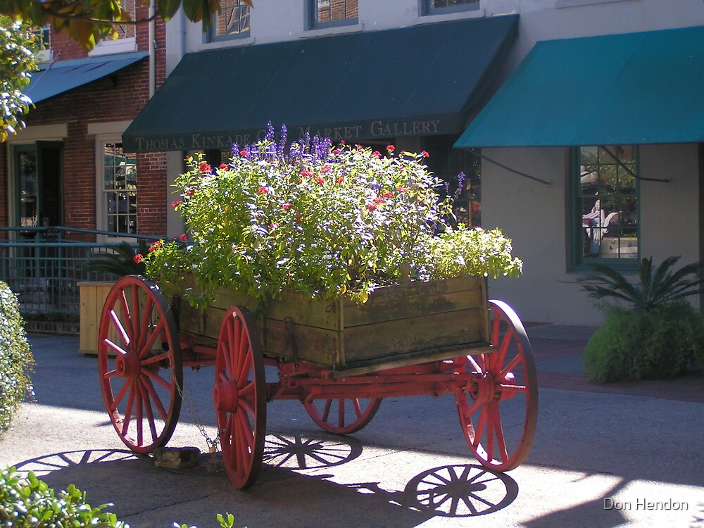 Savannah Market, I once delivered produce.Now I'm a flower pot by Don Hendon