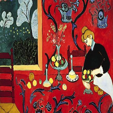 The Dessert: Harmony in Red (The Red Room)-Henri Matisse by LexBauer