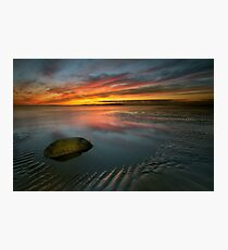 Allonby sunset Photographic Print
