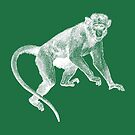 Monkey on Green (Charlie) by MissElaineous Designs