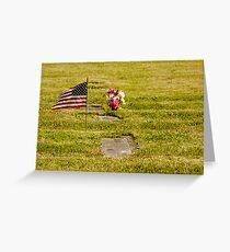 Memorial Flag 3 Greeting Card