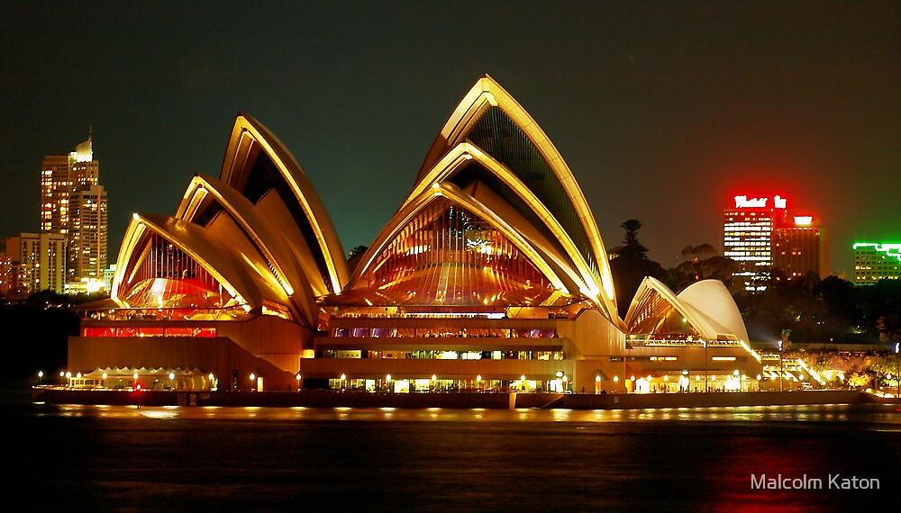 Glowing Opera House by Malcolm Katon
