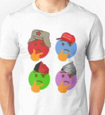 THINKING EMOJI POLITICAL HATS CARICATURE PCM MEMES T-Shirt