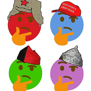THINKING EMOJI POLITICAL HATS CARICATURE PCM MEMES by pcmpoliticalfb