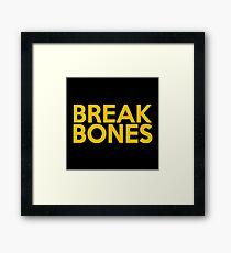 Break Bones Daniel Cormier Gold/Yellow Framed Print
