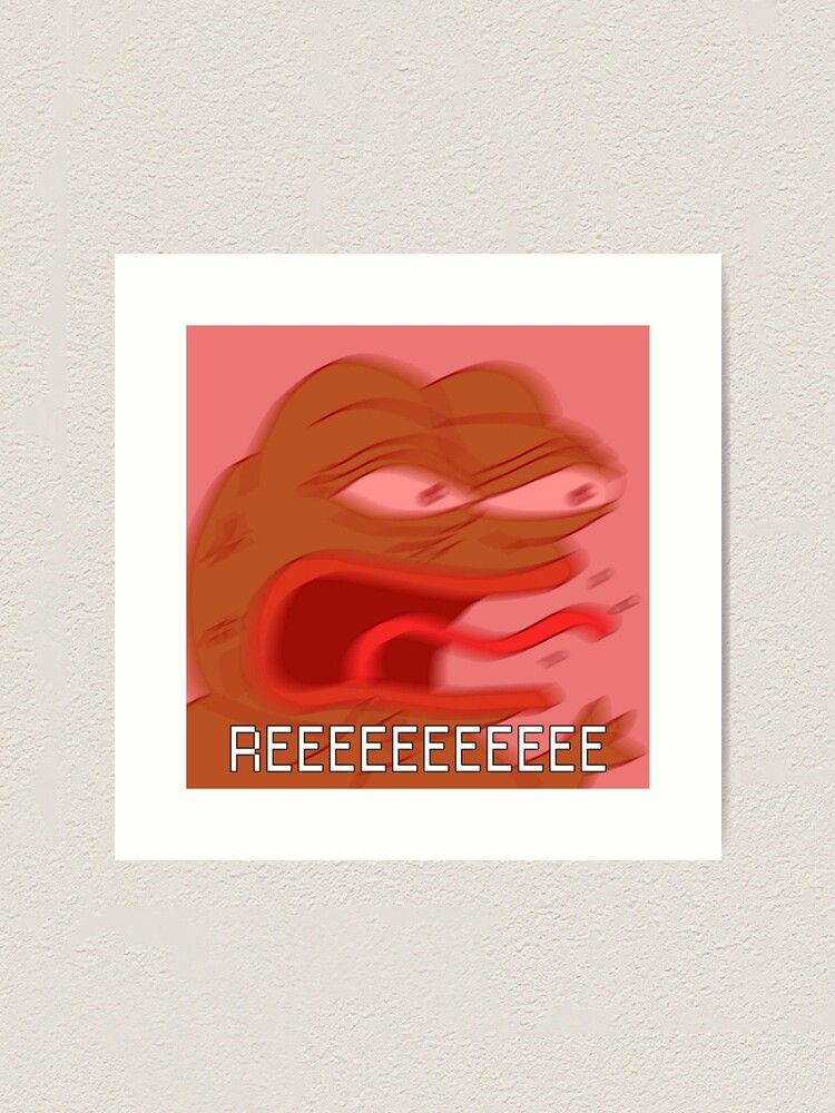 Pepe Reeeee Twitch Emote Feelsbadman Art Print By Etherclothing Redbubble