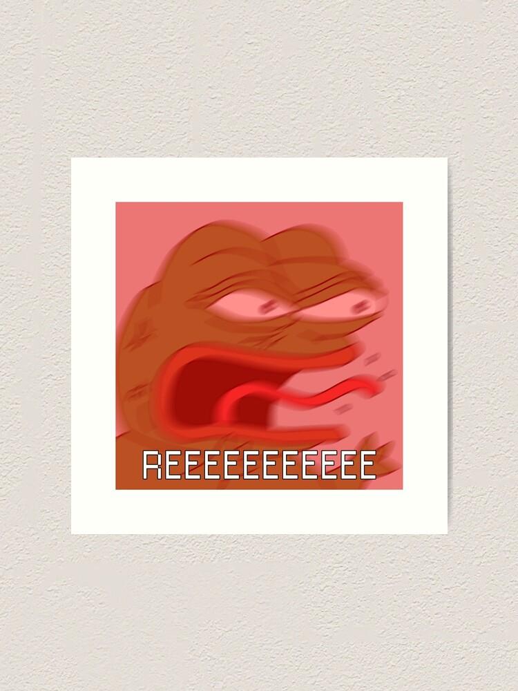 Pepe Reeeee Twitch Emote Feelsbadman Art Print By Etherclothing Redbubble