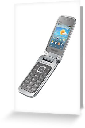 Silver samsung flip phone greeting cards by dishess redbubble silver samsung flip phone by dishess m4hsunfo