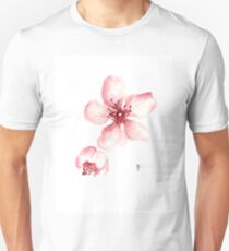Sakura watercolor art print painting. Unisex T-Shirt