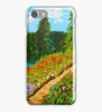 Day Escape, Colorado Mountains, Oil painting, wall art, home decor iPhone Case/Skin