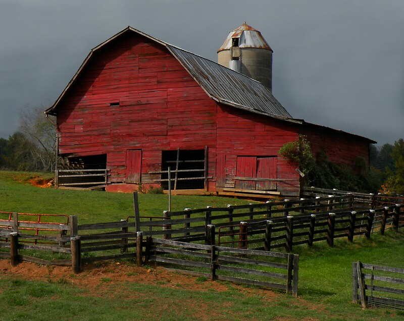 Quot Waynesville Red Barn Quot By Gary Pope Redbubble