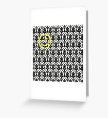 BBC Sherlock 'Bored Smiley Face'  Greeting Card