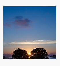 Sunset Between Trees Photographic Print