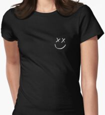 louis tomlinson smiley face tattoo Women's Fitted T-Shirt