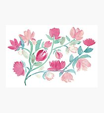 Lovely spring floral fantasty watercolor Photographic Print