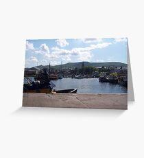 Girvan Harbour Greeting Card