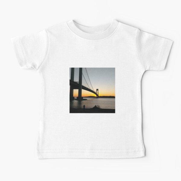 New York, New York City, Brooklyn, #NewYork, #NewYorkCity, #Brooklyn, Verrazano-Narrows Bridge, #VerrazanoNarrowsBridge, #VerrazanoBridge, #bridge, #Verrazano, #Narrows, Verrazano-Narrows Bridge Baby T-Shirt