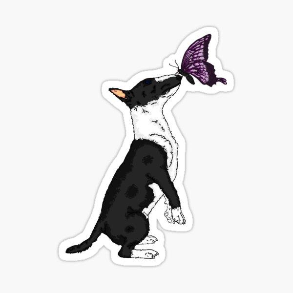 Bull Terrier y la bestia Pegatina