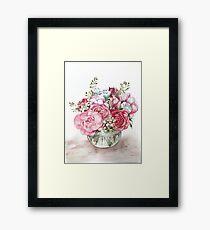 Watercolor flower bouquet  Framed Print