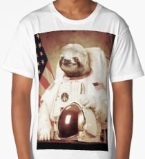 Astronaut Sloth Long T-Shirt