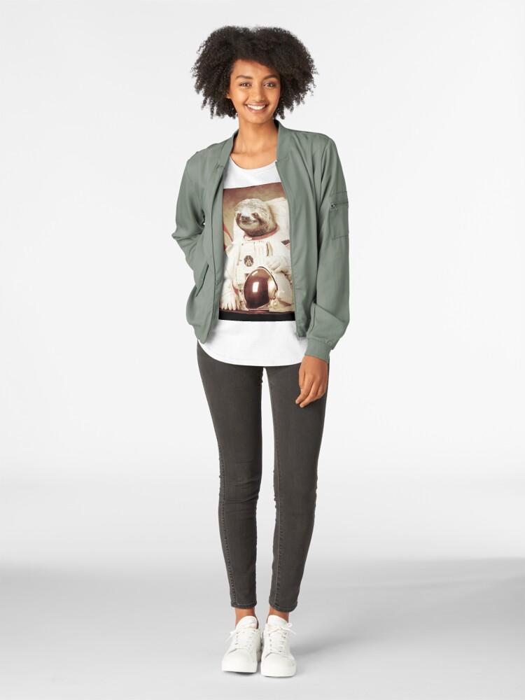 Vista alternativa de Camiseta premium para mujer Astronauta Sloth