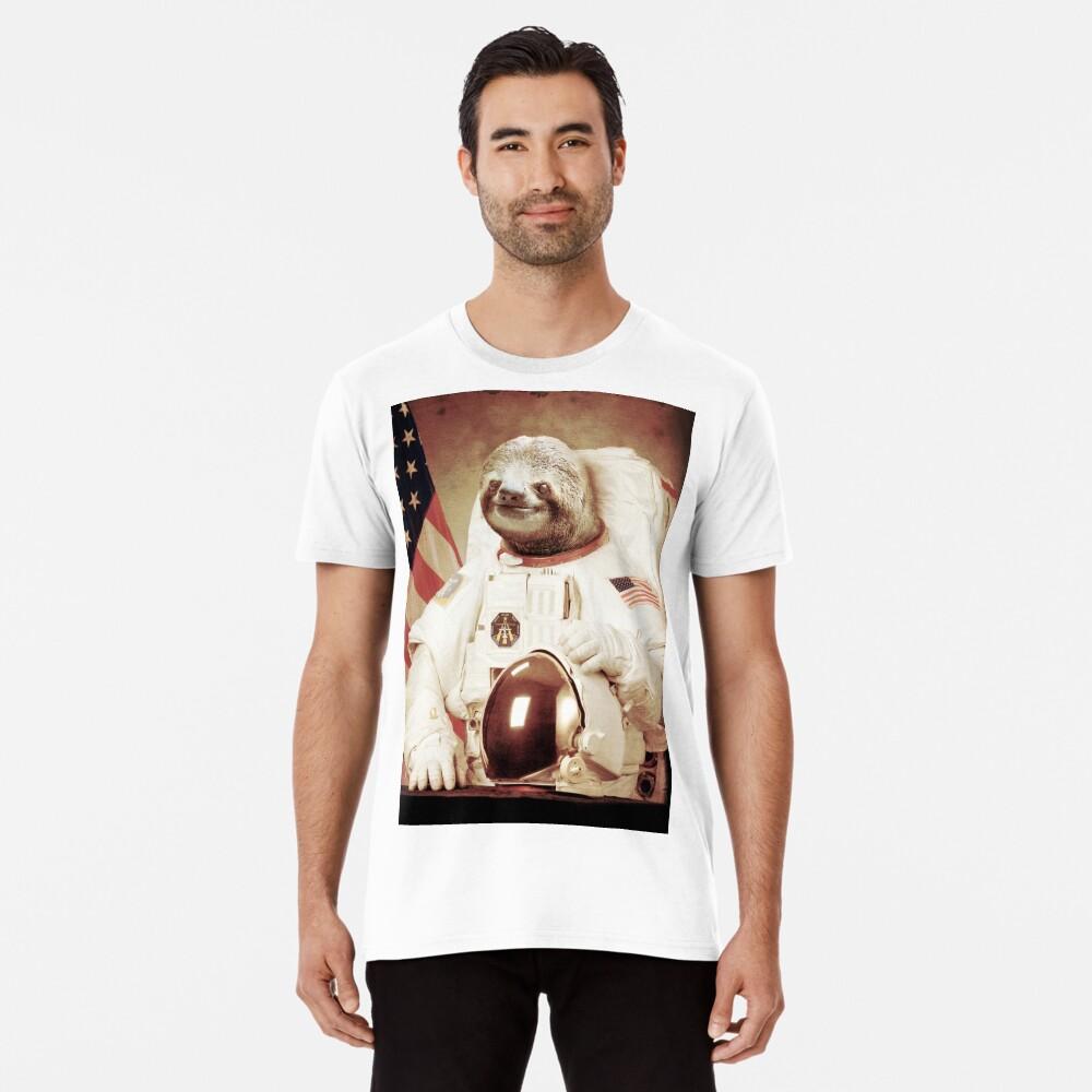 Astronauta Sloth Camiseta premium
