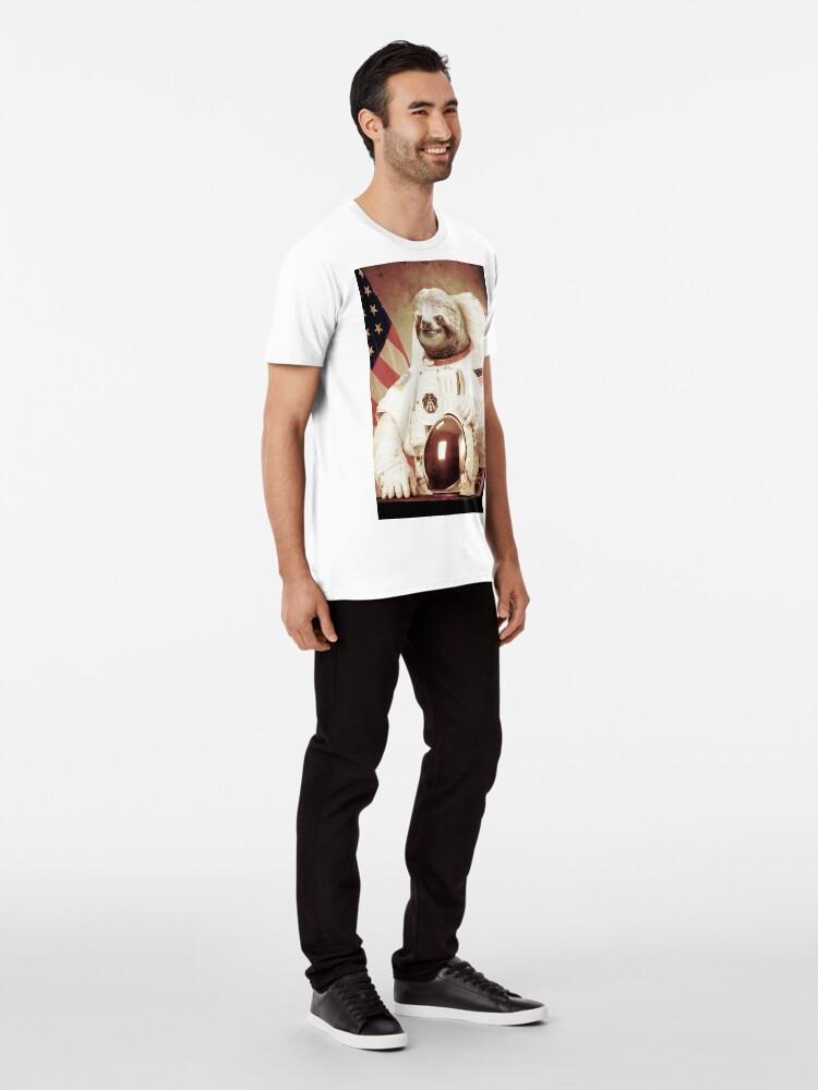 Vista alternativa de Camiseta premium Astronauta Sloth