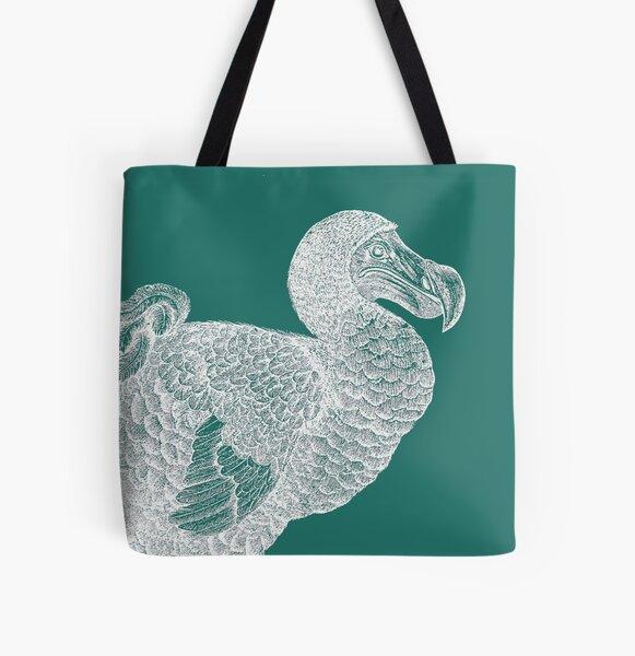 Dodo (Aqua) All Over Print Tote Bag