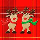 Merry Christmas Reindeers by patjila