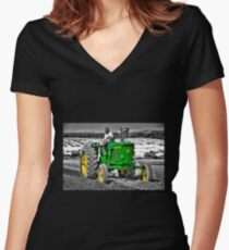 Green Machine  Women's Fitted V-Neck T-Shirt
