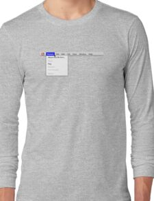Human: Game of Life v1.2 {About this life form...} Long Sleeve T-Shirt