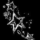 Sterne mit Tribal aus Wassertropfen. von Christine Krahl