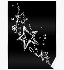Water splash, stars and Tribal, of water drops. Poster