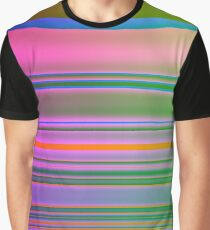 Bright Colorful Lines Fade  Graphic T-Shirt