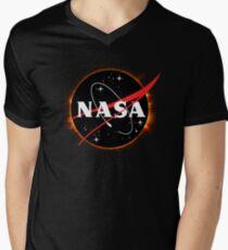 NASA Solar Eclipse Men's V-Neck T-Shirt
