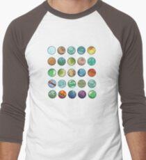 Star Wars Planets Pattern Men's Baseball ¾ T-Shirt