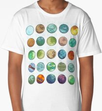 Star Wars Planets Pattern Long T-Shirt