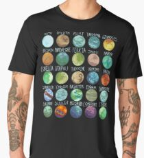 Star Wars Planets Pattern Men's Premium T-Shirt