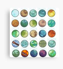 Star Wars Planets Pattern Canvas Print