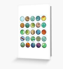 Star Wars Planets Pattern Greeting Card
