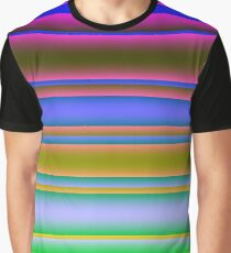 Bright Colorful Lines Fade 3 Graphic T-Shirt