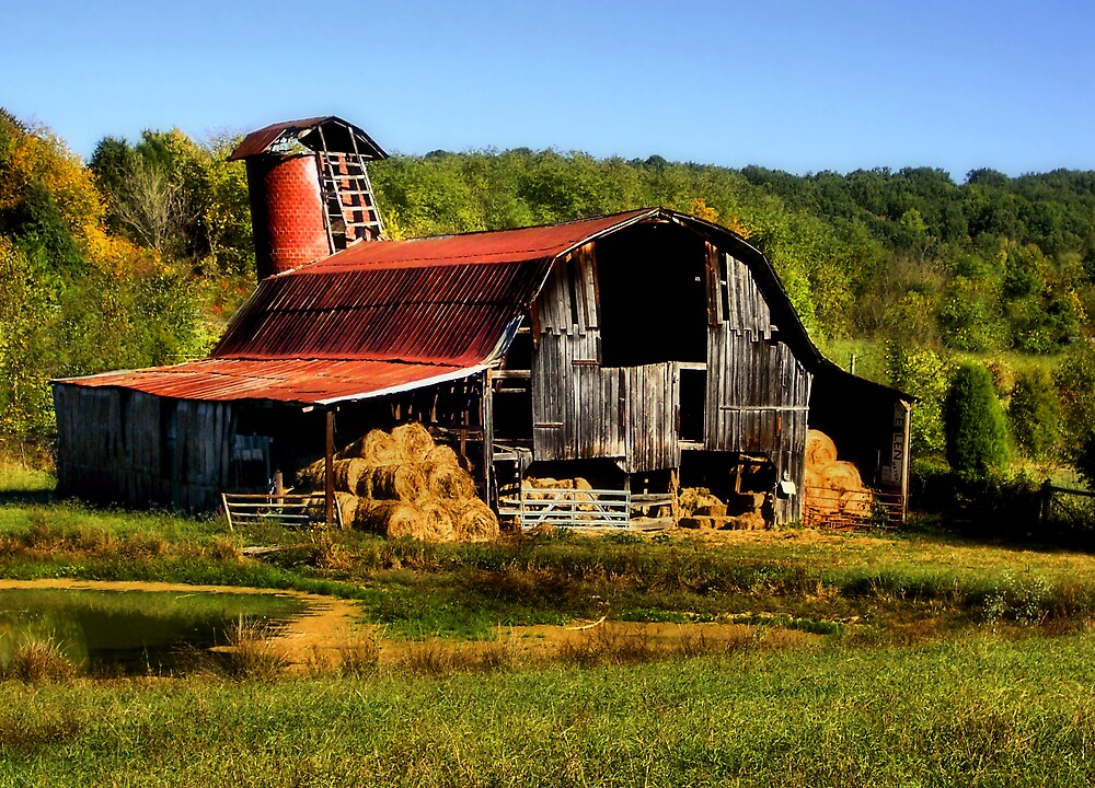 Smoky Mountain Barn by Marylee Pope